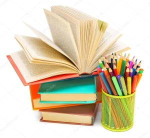 depositphotos_32465869-Basket-with-felt-tip-pens-pens-pencils-with-books.-On-a-white-background.